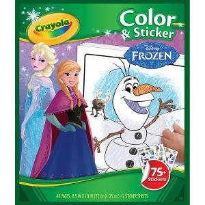Crayola Album de coloriage et autocollants La Reine des neiges