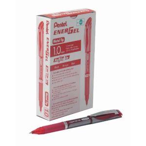 Pentel 12 stylos roller Energel rouge (1 mm)