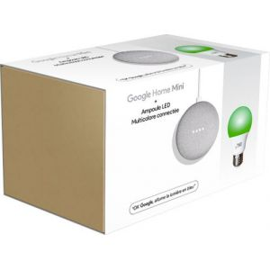 Onearz connect Enceinte intelligente Pack Google Home Mini + Ampoule LED connectée multicolore