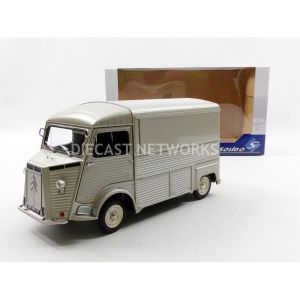 Solido S1850020 - Voiture miniature de collection 1/18ème Citroën Hy 1969 - Gris métal