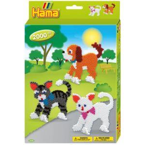 Hama Boîte de perles à repasser : Le chien et les chats