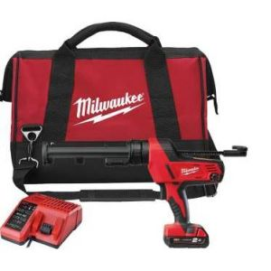 Milwaukee C18 PCG-310C-21B - Pistolet sans fil pour silicones et colles 4500 Nm