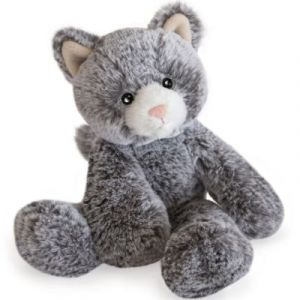 Histoire d'ours Peluche sweety mousse chat 25 cm Gris - Taille Taille Unique