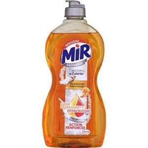 Mir Liquide vaisselle conccentré main écorce d'orange, super dégraissant - Le flacon de 500ml