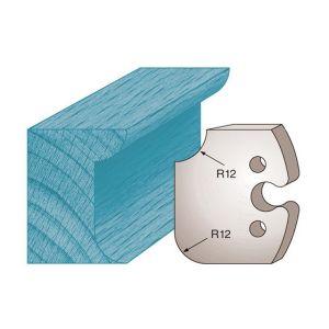 Diamwood Platinum Jeu de 2 fers profilés Ht. 50 x 5,5 mm congé et quart de rond M206 pour porte-outils de toupie