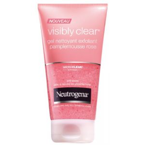 Neutrogena Visibly Clear - Gel nettoyant exfoliant pamplemousse rose
