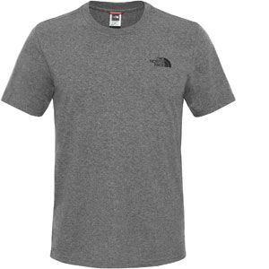 The North Face T-shirt M SS Simple Dome Tee Gris - Taille EU XL