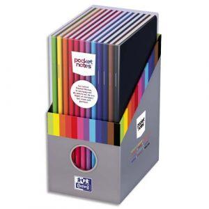 Oxford 400080100 - Boîte cadeau de 12 carnets Pocket Notes 9 x 14 cm 48 pages 90 g/m² piquées, couv. assortis, ligné 6mm