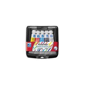 Lefranc & bourgeois Boîte de 5 tubes de gouache 10ml - coloris assortis