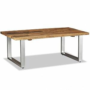 VidaXL Table basse Bois de traverses massif 100 x 60 x 38 cm