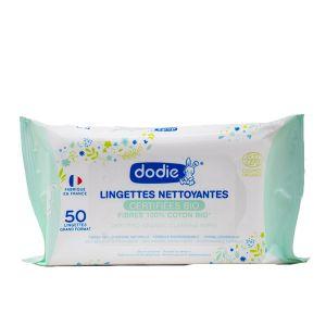Dodie Lingettes nettoyantes certifiées bio x50