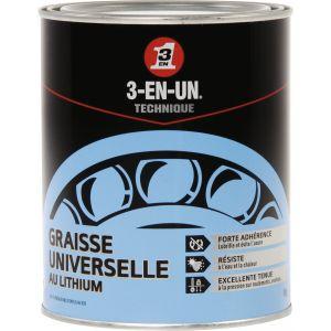 3-en-un Graisse universelle lithium 1 kg