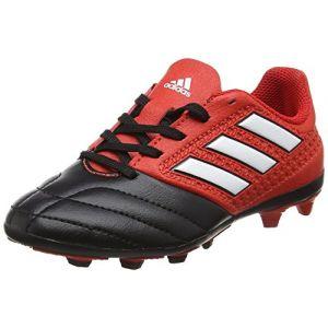 Adidas Ace 17.4 FxG J, Chaussures de Futsal Mixte Enfant, UK, Rouge (Red/FTWR White/Core Black), 38 EU