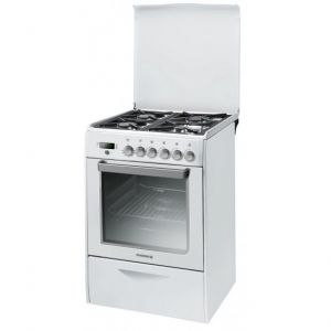 Rosières RGP 6376 RBX - Cuisinière mixte 4 brûleurs gaz avec four électrique