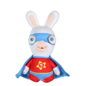 Gipsy Peluche Lapins Crétins Super Haros sonore 18 cm