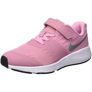 Nike Star Runner (PSV), Sneakers Basses Fille, Multicolore (Elemental Metallic Silver/Pink 001), 28 EU