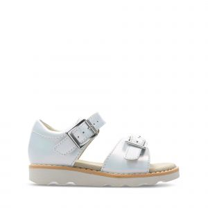 Clarks Sandales enfant Crown Bloom T blanc - Taille 24,25,26,27