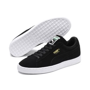 Puma Suede Classic+ - Baskets Mode - Mixte Adulte - Noir (Black/Gold/White 87) - 47 EU