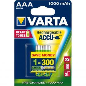 Varta 2 accus AAA NiMH 1,2 V 1000 mAh