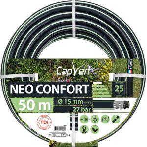 Cap Vert Tuyau d'arrosage Néo Confort - Diamètre 15 mm - Longueur 50 m