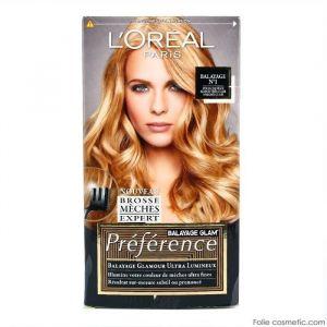L'Oréal Préférence Balayage Glam' Balayage N°1 : pour cheveux blond très clair à blond clair