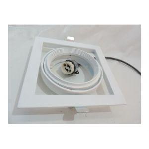 Sylvania Spot encastré orientable blanc carré 175X175mm pour lampe iodure Ø 111mm 35W CMI-T GX10 (non incl) Expospot 3062171