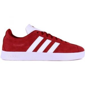 Adidas VL Court 2.0K F36377 Baskets à Gazelle en Daim Rouge