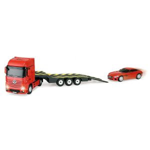 Image de Mondo Italie Camion et voiture Mercedes AMG GT radiocommandés rouge