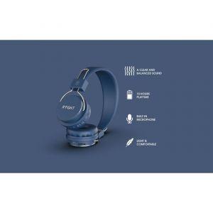 Ryght LUMINA - Casque - pleine taille - sans fil - Bluetooth - bleu