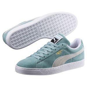 Puma Suede Classic, Sneakers Basses Mixte Adulte, Vert (Aquifer White), 44.5 EU