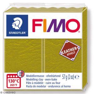 Fimo Pâte à modeler polymère Effect Cuir 57 g 519 Olive