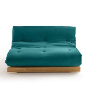 Matelas futon Latex laine lin pour banquette THAÏ Bleu Canard Taille 90x190 cm;160x200 cm
