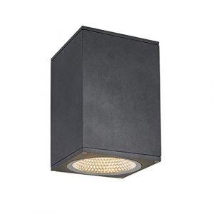SLV ENOLA, plafonnier extérieur, carré, L, anthracite, LED, 35W, 3000K/4000K, IP65 - Lampes sur pied, murales et de plafond (extérieur)