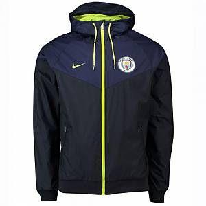 Nike Veste Manchester City FC Windrunner pour Homme - Bleu - Couleur Bleu - Taille 2XL