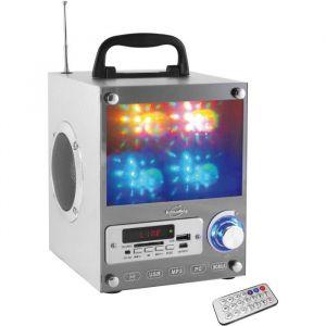 Inovalley DANCE CUBE 20 Enceinte portable lumineuse - USB, carte SD, FM