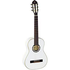 Ortega R121-1/2WH Guitare de concert avec housse Taille 1/2 Corps Acajou Table épicéa Blanc