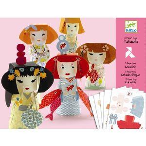 Djeco Paper Toys : Kokeshis