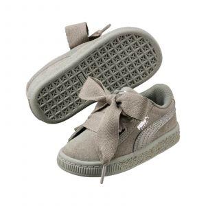 Puma Suede Heart SNK PS, Sneakers Basses Fille, Gris (Rock Ridge-Rock Ridge), 30 EU