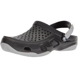 Crocs Swiftwater Deck Clog Men, Sabots Homme, Noir (Black/light Grey) 46/47 EU