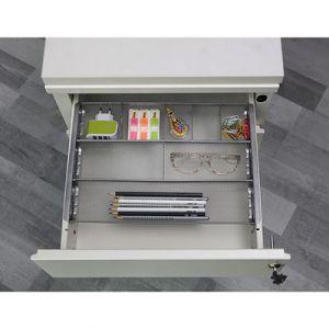 Alba Organiseur de tiroir Meshorg - métal mesh - 8 compartiments - L34,5 x H2,5 x P24 cm - noir