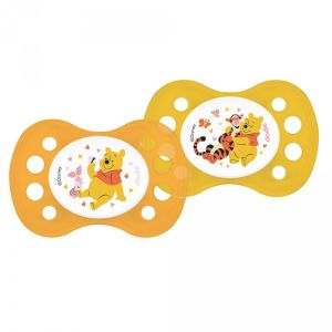 Dodie 2 sucettes silicone Winnie 0-2 mois