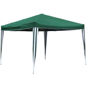 Bentley Tonnelle pliable - montage facile - pour camping/barbecue - vert - 3 x 3 m - CHARLES