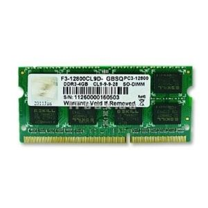 G.Skill F3-12800CL9S-4GBSQ - Barrette mémoire Standard 4 Go DDR3 1600 MHz CL9 204 broches