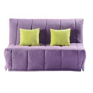 Inside75 Canapé BZ convertible LOU violet 40*200cm matelas confort BULTEX inclus
