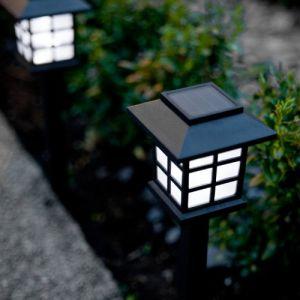 Lights4Fun Offre Spéciale : Lot de 9 Lanternes Solaires à Piquet avec LED Blanche de