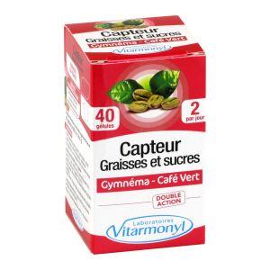 Laboratoires Vitarmonyl Vitarmonyl 5 actions capteur graisses et sucres 40 gélules