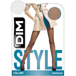 DIM Collant Résille 73D Noir Chaussant