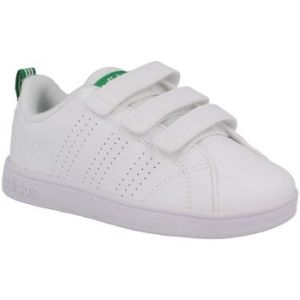 Adidas VS Advantage Clean, Baskets Mixte Enfant, Blanc (Footwear White/Footwear White/Green 0), 30.5 EU