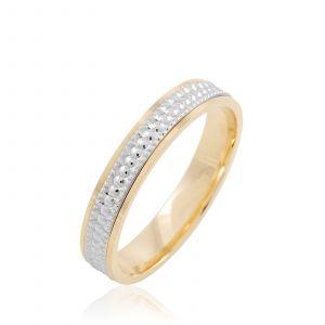 Histoire d'Or Alliance en or avec diamants - bicolore