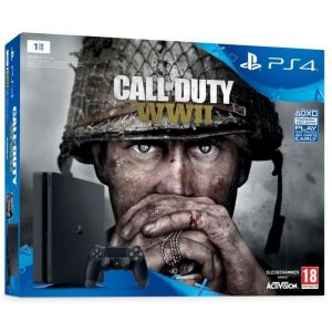 Sony PS4 Slim 1 To + Call of Duty : World War II + Qui-es-tu ?
